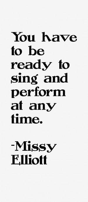 Return To All Missy Elliott Quotes