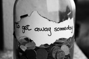 white quote travel money jar get away instagram quotes tumblr quotes ...