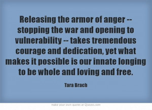 Releasing the armor of anger...