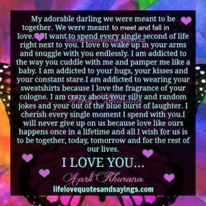 my adorable darling we were meant to be together we were meant to meet ...