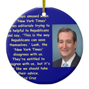 Ted Cruz quote Double-Sided Ceramic Round Christmas Ornament