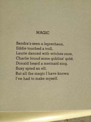 quote:Found this poem by Shel Silverstein a bit inspirational.