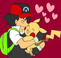 Ash And Pikachu Hugging Years