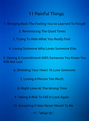 ... 11 painful things love quote get 11 painful things love quote free
