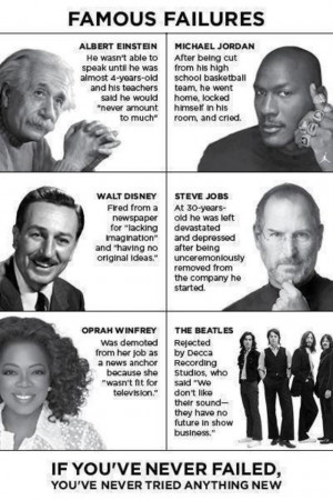 Famous Failures - Oprah Winfrey, Albert Einstein, Michael Jordan ...