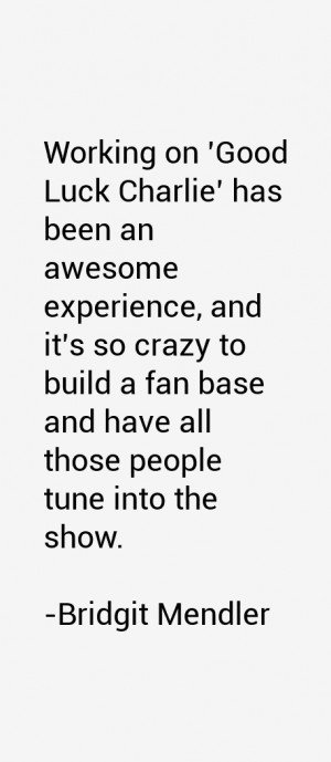 Working on 39 Good Luck Charlie 39 has been an awesome experience and ...