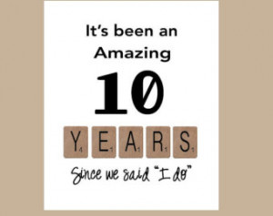 10th Wedding Anniversary Card - Tenth Wedding Anniversary Card - Love ...