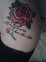 Rose tattoo and quote by demonbarber123
