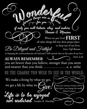 graduation quote page White on Black