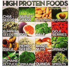 Protein Rich Raw foods.