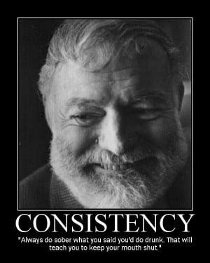 Motivational Posters: Ernest Hemingway Edition