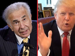 Carl Icahn left and Donald Trump