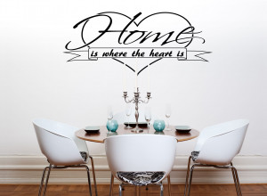 Home Is Where The Heart Is Quote..Vinyl Wall Art Sticker Decal