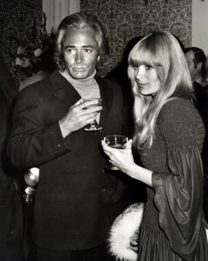 John Derek and Linda Evans