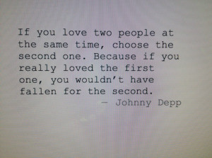love quote Black and White white black famous johnny depp actor johnny