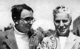 Marcel Achard et Charlie Chaplin