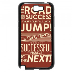 Work Success Motivational Quotes Galaxy Note 2 Case