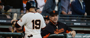 Related Pictures bruce bochy with barry bonds in the background ...