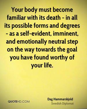 Dag Hammarskjold Death Quotes