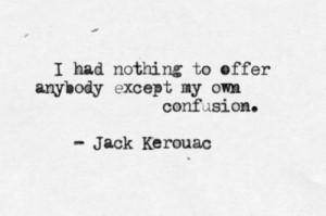 jack kerouac, quote