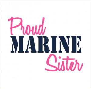 Proud Marine Sister Vinyl Car Decal Military Car Window Sticker Vinyl ...