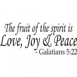 spirit is love, joy and peace Bible Verse Vinyl Art Home & Kitchen