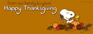 Snoopy Woodstock Happy Thanksgiving Facebook Cover Layout