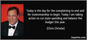 Today is the day for the complaining to end and for statesmanship to ...