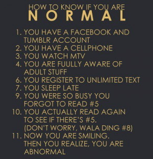 How to know if ur normal – Life hack Quote