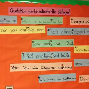 Quotations lesson using elbow pasta.