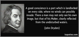 Maker clearly reflected from the undisturbed waters John Dryden