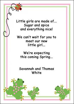 ... girl is here baby girl announcement sayings cute baby announcement