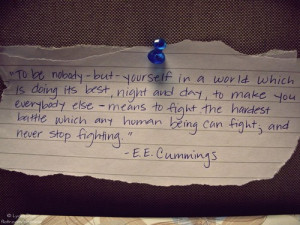 Being Yourself Quotes (79)