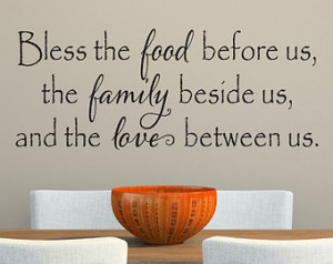 ... Bless Our Family Decal - Wall Decor - Kitchen Quotes - Vinyl Quote