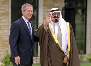 President George W. Bush and Crown Prince Abdullah of Saudi Arabia
