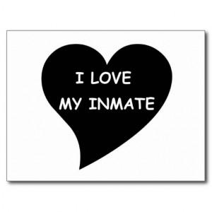 love My Inmate Postcard