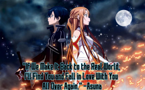 Sword Art Online - Quote from Yukki Asuna by Diamondketo