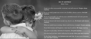 Do it Anyway by Mother Teresa - truly inspirational, Mother Teresa, Do ...