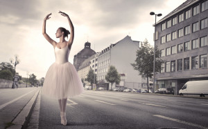 Ballerina dancing in the street wallpapers and images