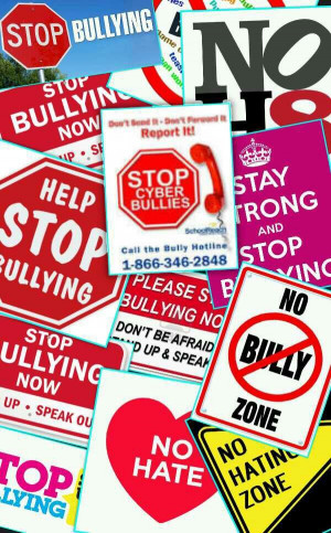 cannot accept that bullying is still such a huge problem, and the ...