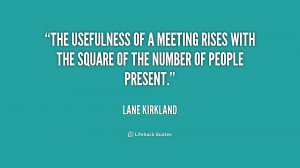 The usefulness of a meeting rises with the square of the number of ...
