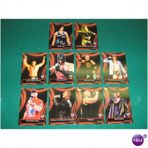 2011 TOPPS WWE Wrestling CATCHY PHRASES 10 CARD SET