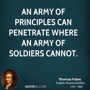 Quotes – Quote about principle - thomas-paine-writer-quote-an-army ...