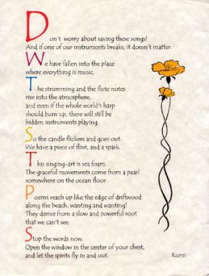 Rumi Quotes Encouragement Quotesgram
