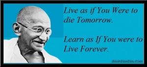 Gandhi Quotes About Life and Death