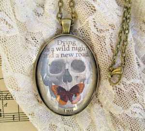 Necklace /Pendant with Emily Dickinson quote 'Dying by WhimsyJig, € ...