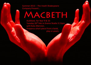 production of the Shakespeare play, Macbeth will take place at The ...