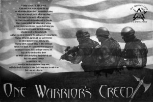 Posters available on www.onewarriorscreed.com