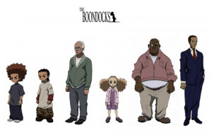 Characters From The Boondocks Animated Serie (Huey, Riley, Grandad ...