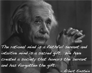 Einstein Quote about the Intuitive Mind